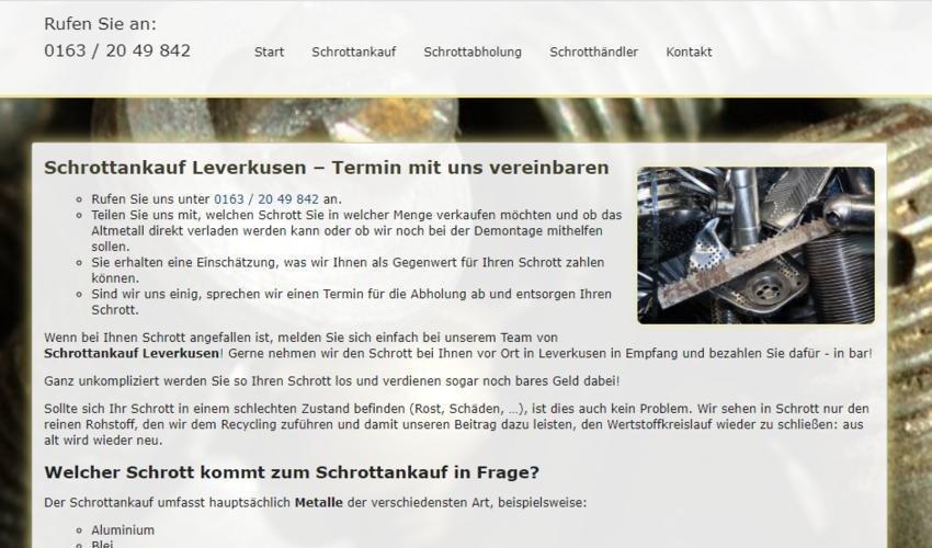 Der Schrottankauf in Leverkusen kauft Ihren Schrott zu fairen Preisen an (Sonstige Veranstaltung | Online)
