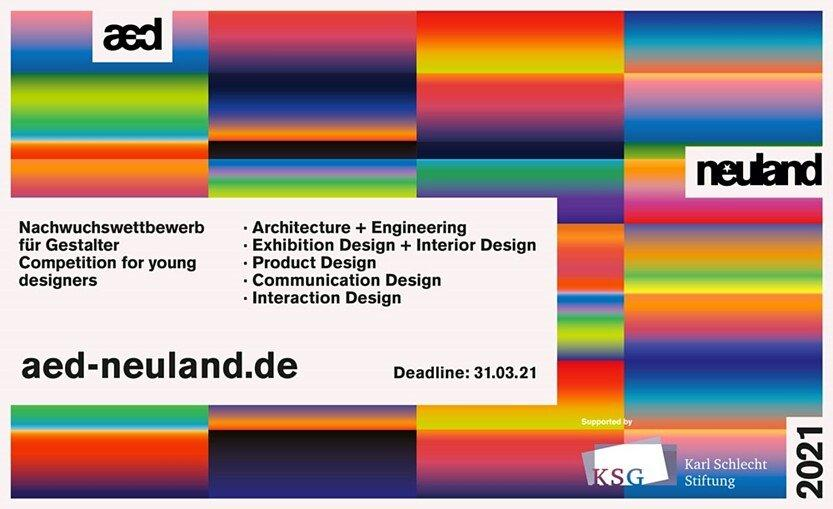 "Last call for entries! Endspurt bei aed ""neuland"" 2021 (Sonstige Veranstaltung | Online)"