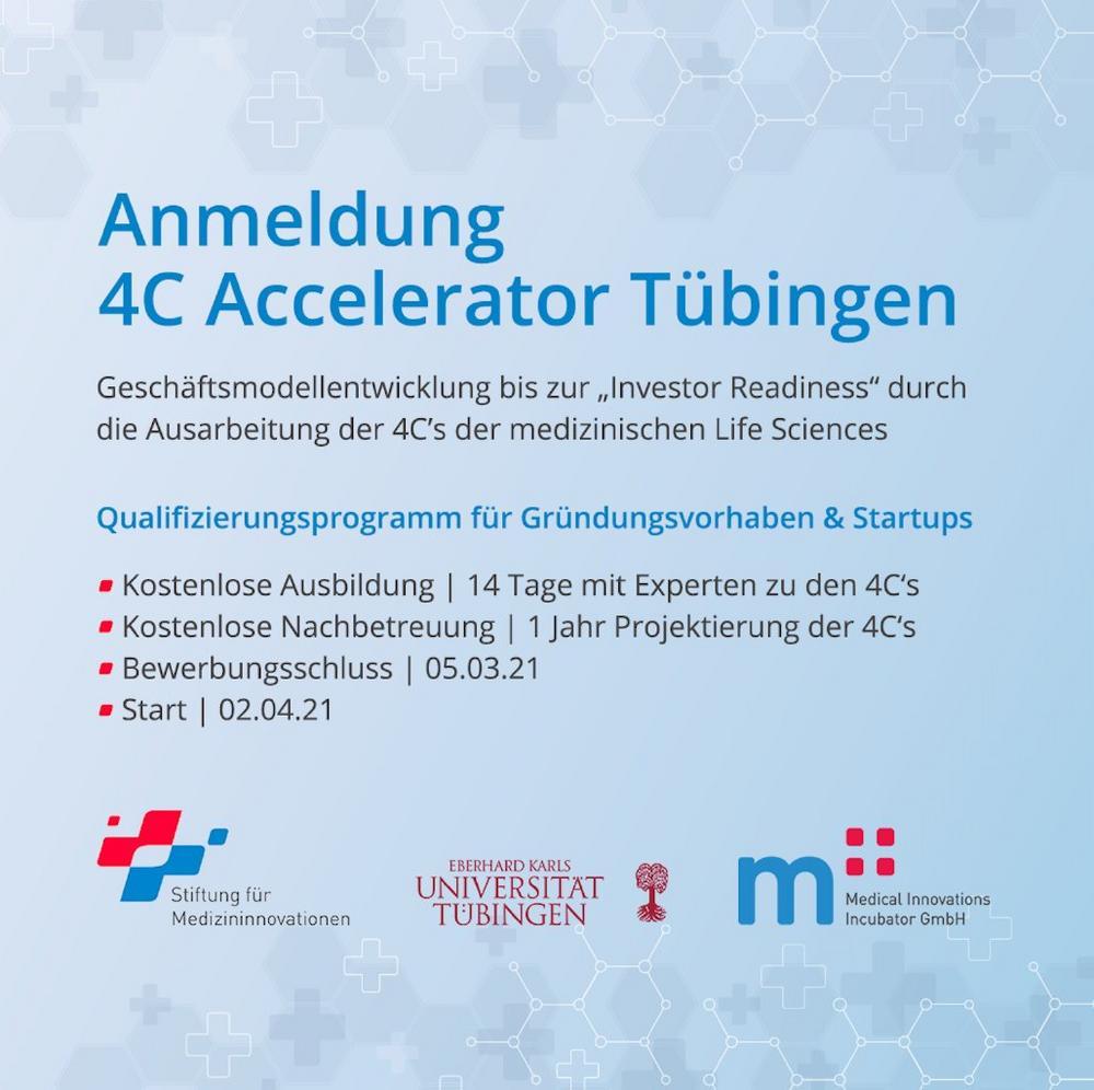 "Startup training program ""4C Accelerator Tübingen"" (Webinar | Online)"