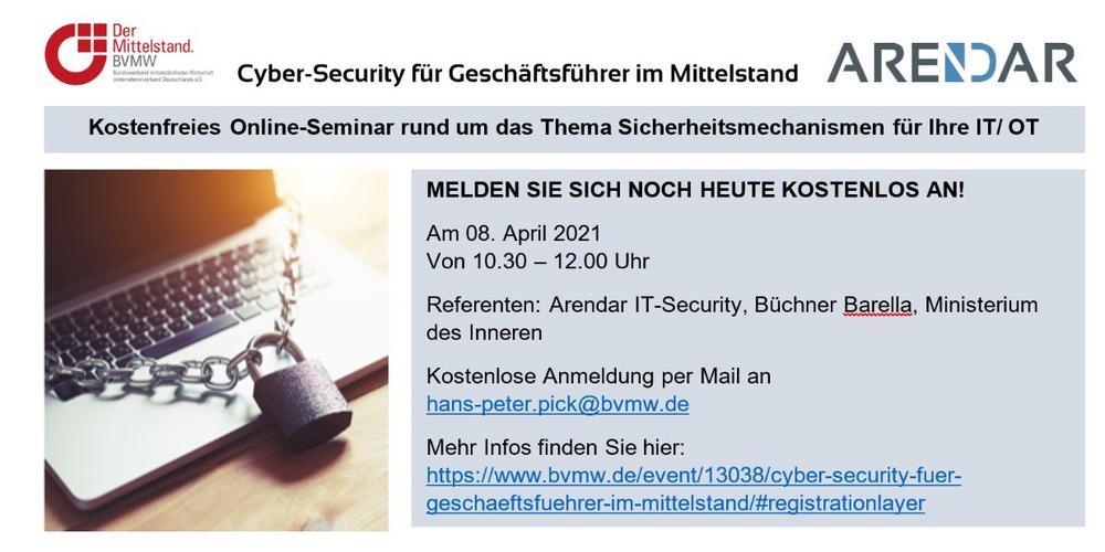 Cyber-Security für Geschäftsführer im Mittelstand (Webinar   Online)