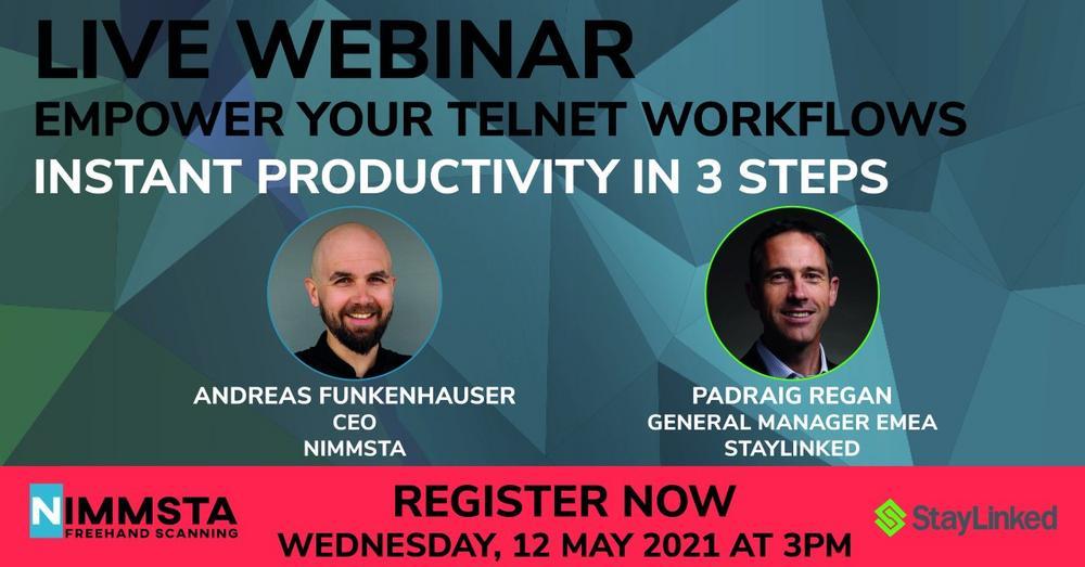 EMPOWER YOUR TELNET WORKFLOWS: INSTANT PRODUCTIVITY IN 3 STEPS (Webinar   Online)