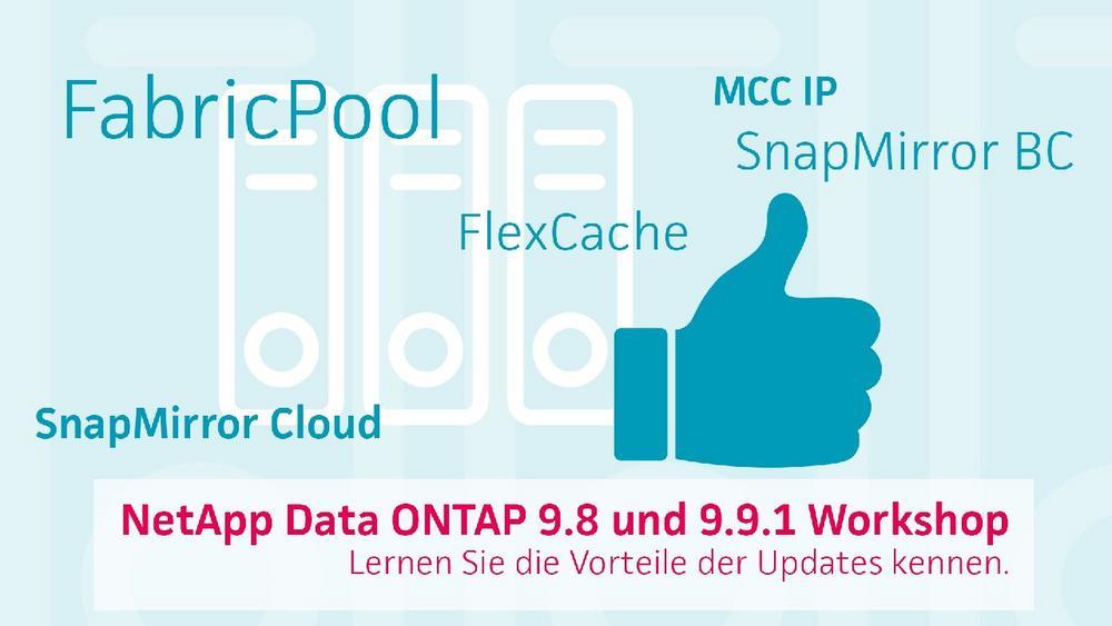 NetApp Data ONTAP – profitieren Sie von den Vorteilen der Updates 9.8 und 9.9.1 (Webinar | Online)