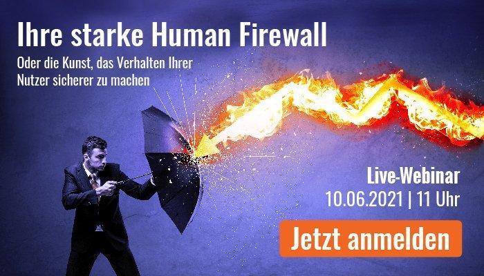 Ihre starke Human Firewall (Webinar   Online)