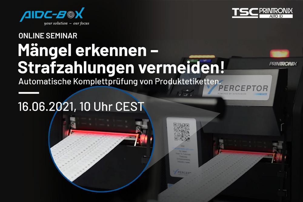 Automatische Komplettprüfung von Etiketten zur Produktkennzeichnung (Webinar   Online)