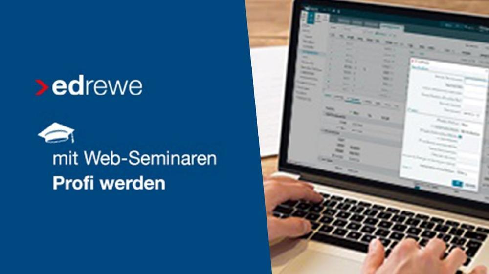 Import von Buchungen mit csv-Dateien in edrewe (Webinar | Online)
