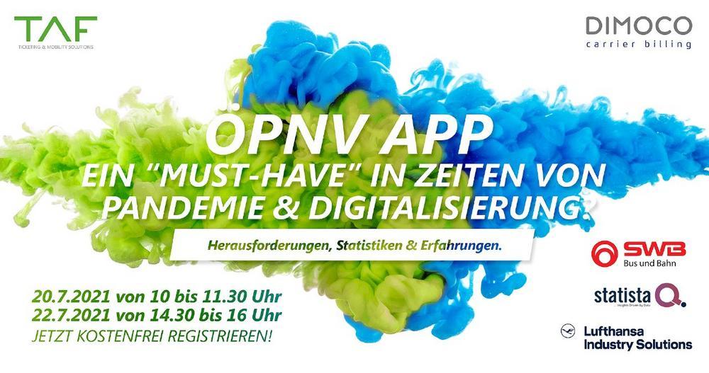 """ÖPNV Webinar """"ÖPNV Apps & Big Data"""" (Webinar   Online)"""
