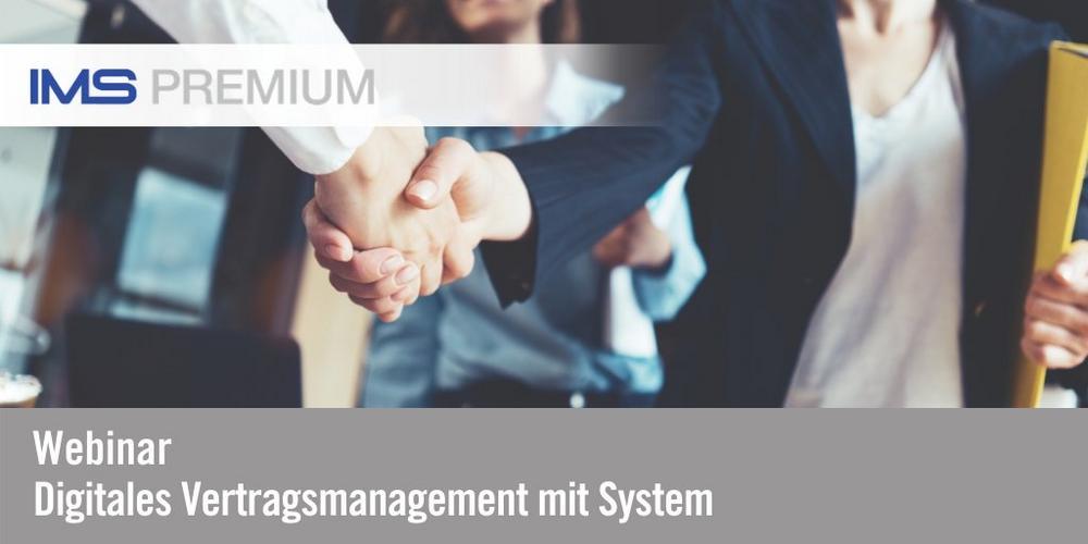 Digitales Vertragsmanagement mit System (Webinar   Online)