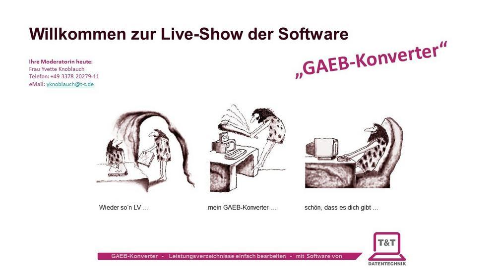 """Kostenloses Webinar zur Software """"GAEB-Konverter"""" (Webinar   Online)"""