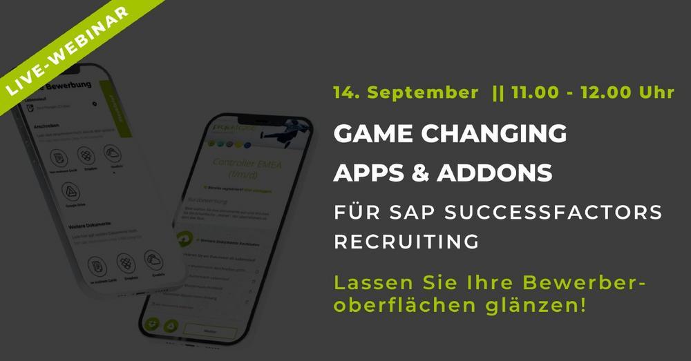 Game Changing Apps & AddOns für SuccessFactors Recruiting (Webinar | Online)