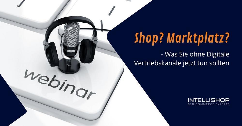 Shop? Marktplatz? – Was Sie ohne Digitale Vertriebskanäle jetzt tun sollten (Webinar   Online)