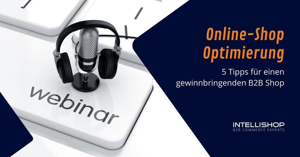 Online-Shop Optimierung: 5 Tipps für einen gewinnbringenden B2B Shop (Webinar   Online)