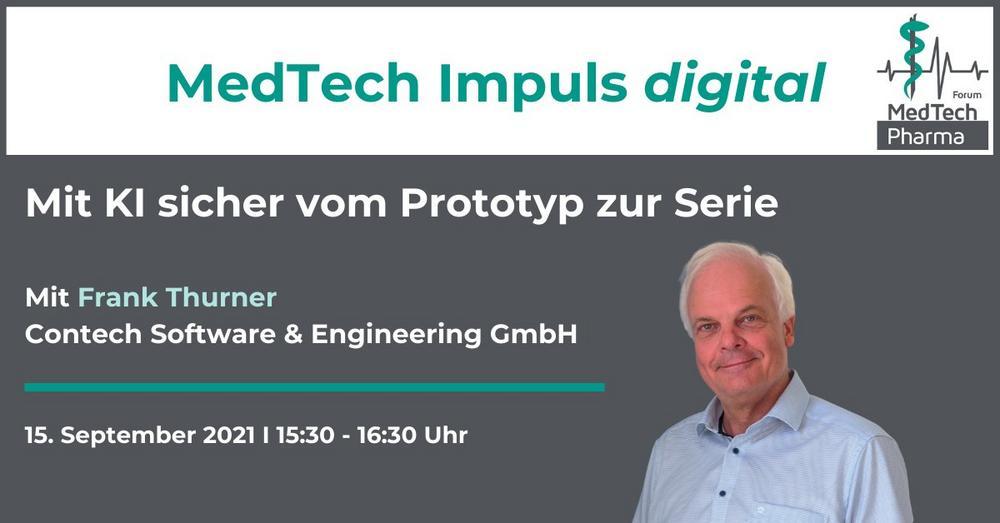 MedTech Impuls digital: Mit KI sicher vom Prototyp zur Serie (Webinar | Online)