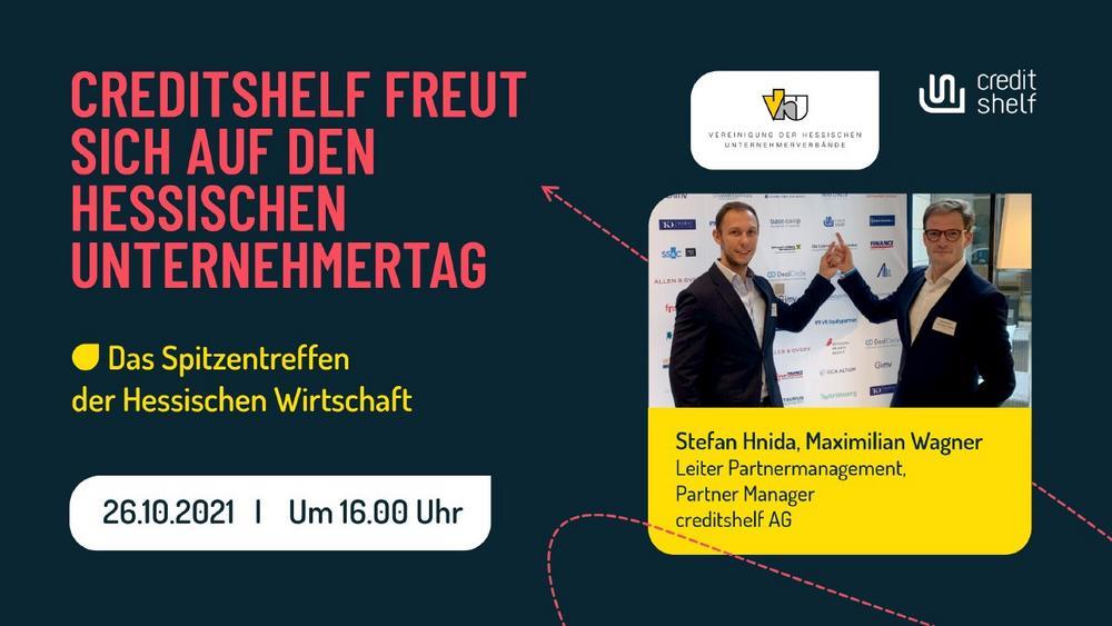CREDITSHELF FREUT SICH AUF DEN HESSISCHEN UNTERNEHMERTAG (Kongress   Wiesbaden)