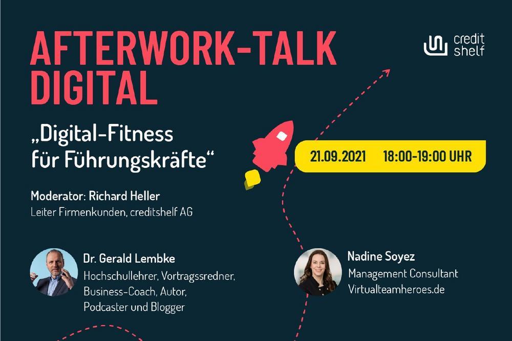 "AFTERWORK-TALK DIGITAL ""DIGITAL-FITNESS FüR FüHRUNGSKRäFTE"" (Webinar   Online)"